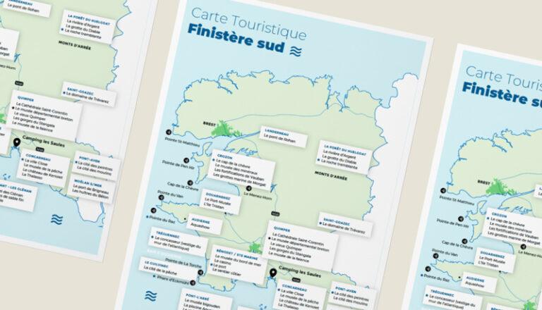 Carte touristique du Finistère Sud